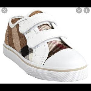 Burberry Kids Velcro Strap Shoes White size 33